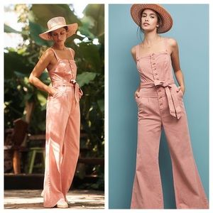 Anthropologie pink Desmond Jumpsuit